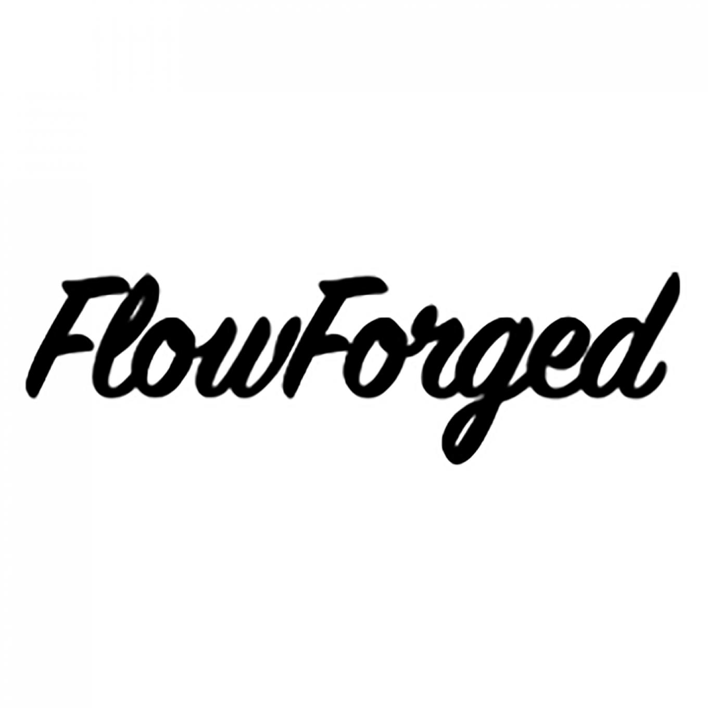 FlowForged Sticker | 25 cm | Weiß