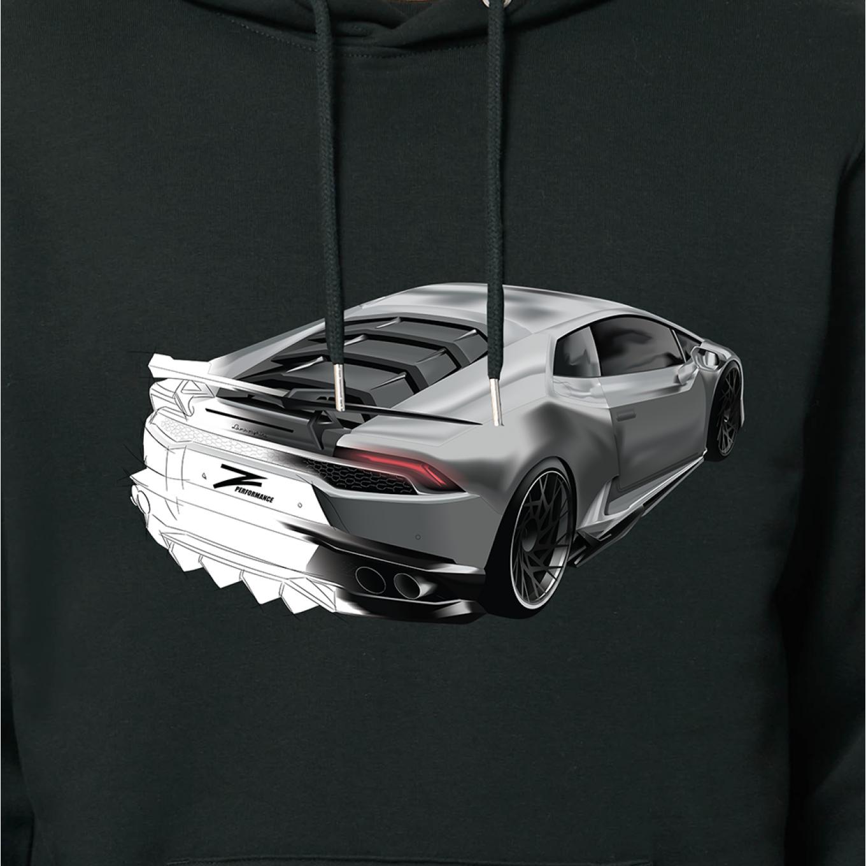 Z-Performance Hoodie Schwarz | Lamborghini Grau