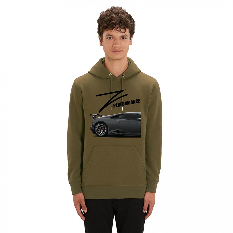 Z-Performance Hoodie Khaki | Lamborghini Grau