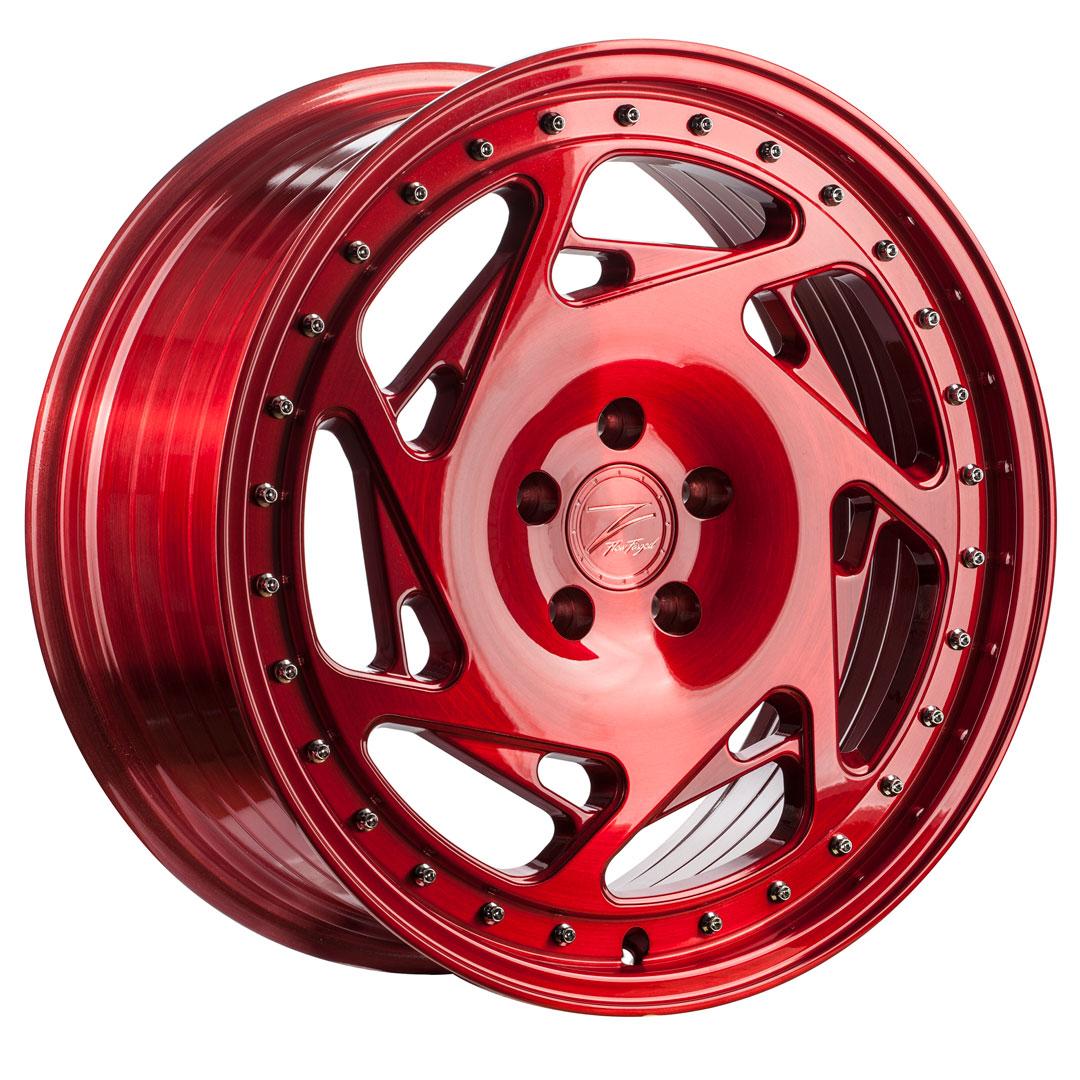 Z-PERFORMANCE ZP5.1 Deep Concave  hliníkové disky 8,5x19 5x112 ET45 Brushed Candy Red